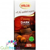 Valor sugar free dark chcolate with stevia with truffle filling