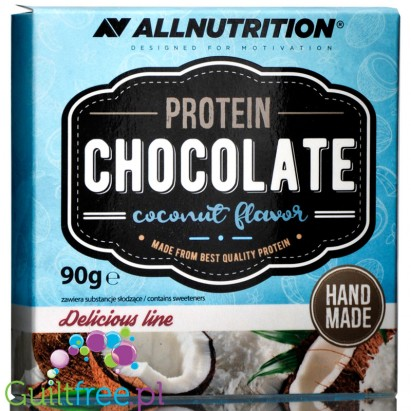 AllNutrition Protein Chocolate (90g) White Chocolate Coconut