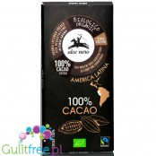 Alce Neo bio organic fair trade ark chocolate 100% cocoa, no sugar nor sweeteners