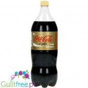 Coca Cole Diet without caffeine - carbonated low-calorie refreshing drink without sugar with plant extracts and sweeteners