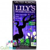 Lily's Sweets No Sugar Added 70% Dark Chocolate Bars, Salted Almond