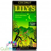 Lily's Sweets No Sugar Added Dark Chocolate Bars, Coconut