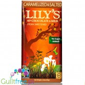 Lily's Sweets No Sugar Added 40% Chocolate Bars, Caramelized & Salted Milk