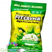 Robert Irvine's Fit Crunch Puffs, Sour Cream & Onion - proteinowe chrupki (Śmietanka & Cebulka)