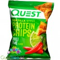 Quest Tortilla Chips, Chilli & Lime - chipsy proteinowe 20g białka