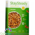 Nutritious Living Stay Steady Cereal, Original  - Breakfast cereals enriched with protein and fiber, with pecan nuts