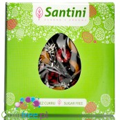 Santini Easter, sugar free dark chocolate with cherries, coconut and almonds