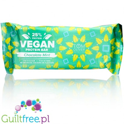 Tom Oliver Vegan High Protein Bar Chocolate Mint