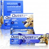 Quest Protein Bar Blueberry Muffin Flavor - High-protein bar of vanilla cupcakes with blueberries, contains sweeteners