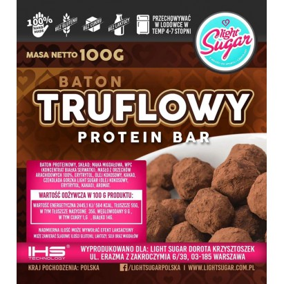 Light Sugar Truflovy protein bar bez cukru i laktozy