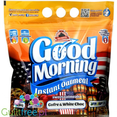 Max Protein Good Morning Instant Oatmeal 1,5 kg White Chocolate & Waffle