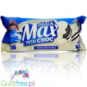 MAX Protein Black Max Cookies Total White Choc - no added sugar, high protein sandwich Oreo-like cookies