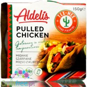 Aldelis pulled chicken breast in a spicy Tex-Mex sauce