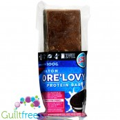 Light Sugar Ore'Lovy sugar free milk chocolate prote bar with WPC and cookies pieces