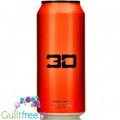 3D Orange sugar free energy drink
