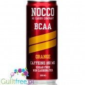 NOCCO BCAA Orange  - sugar free energy drink with caffeine, l-carnitine and BCAA