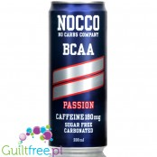 NOCCO BCAA Passion - sugar free energy drink with caffeine, l-carnitine and BCAA