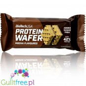 BioTech USA Protein Wafer with Mocha cream filling, 42% protein