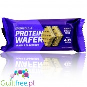 BioTech USA Protein Wafer with Vanilla cream filling, 42% protein