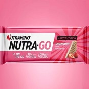 Nutramino Nutra-Go Strawberry protein wafer with creamy filling