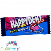 Happydent Xylit Pinta Linguas, Strawberry - sugar-free chewing gum with xylitol