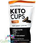 Eating Evolved Keto Cups, + Coffee 5.18 oz no added sugar low carb dark choc cups