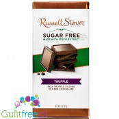 Russel Stover Stevia, sugar free chocolate, Truffle, rich truffle filling in dark chocolate