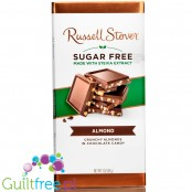 Russel Stover Stevia, sugar free chocolate, Almond, crunchy almonds in chocolate candy