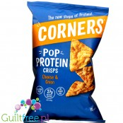 Corners Pop Protein Crisps Cheese & Onion - duża paka, cebulowo-serowe chipsy białkowe