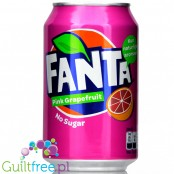 Fanta Pink Grapefruit Zero 330ml, sugar and calorie free
