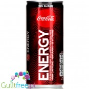 Coca-Cola Energy No Sugar with guarana and vitamins