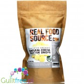 RealFoodSource Certified Organic Natural Edible Cocoa Butter Drops 150g