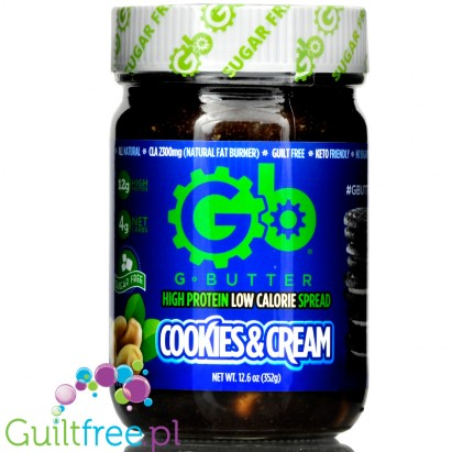 G Butter High Protein Spread, Cookies & Cream 12.6 oz