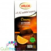 Valor sugar free dark chcolate with stevia and orange filling