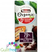Torras Bio, organic no added sugar dark chocolate, keto friendly