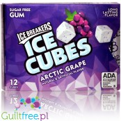 Ice Breakers - Arctic Grape Ice Cubes - Blister Pack 12 pack sugar free chwing gum