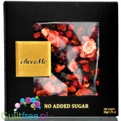 Me Carré Sugar Free Gourmet Dark Chocolate with Blackberries/Redcurrants & Strawberry Pieces