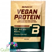 BioTech Vegan Protein Chocolate Cinnamon - vegan protein powder with acai, goji & quinoa, sachet