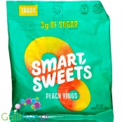 Smart Sweets Peach Rings, Tangy, sugar free and maltitol free 50g (1.8 oz)