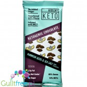 Kiss My Keto Ketogenic Chocolate, Dark Chocolate with Pumpkin Seeds & Sea Salt