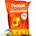 ProTings Zesty Nachobaked crisps with proteins - high protein vegan potato chips flavored with onion-tomato