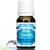 Funky Flavors White Chocolate liquid food flavoring, sugar & sweetener free