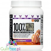 Finaflex 100% Keto Food, Ketogenic Meal Replacement Shake, Vanilla Caramel