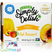 Simply Delish Natural Sugar Free Vegan Peach Jelly Dessert