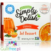 Simply Delish Natural Sugar Free Vegan Orange Jelly Dessert