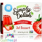 Simply Delish Natural Sugar Free Vegan Strawberry Jelly Dessert