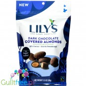Lily's Sweets Chocolate Covered Almonds, Dark Chocolate
