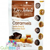 Dr. John's Healthy Sweets sugar free Vanilla & Chocolate Swirl low calorie caramels