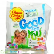 Chupa Chups Stevia Good for You - 12 sugar free lollies with stevia and herbal extracts (Cherry, Orange, Strawberry)