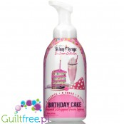 Skinny Syrups Whipped Foam Birthday Cake